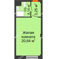 Апартаменты-студия 28,03 м², Апарт-Отель Гордеевка - планировка