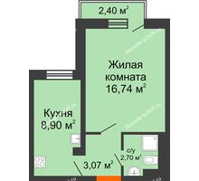 1 комнатная квартира 31,41 м² в ЖК Мечников, дом ул. Таврическая, 4 - планировка