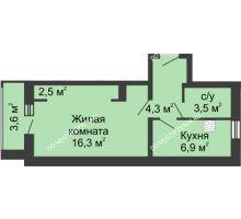 1 комнатная квартира 31,7 м² - Жилой дом: ул. Страж Революции