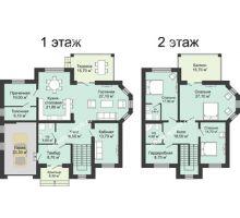 """5 комнатная квартира 266,5 м² в КП Ясная поляна, дом """"Портофино"""" 266,5 м² - планировка"""