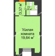 Апартаменты-студия 26,21 м², Апарт-Отель Гордеевка - планировка