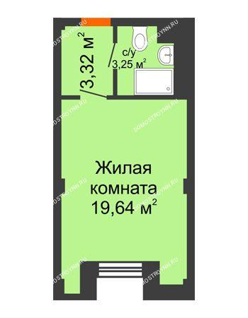 Студия 26,21 м² - Апарт-Отель Гордеевка