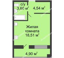 Студия 29,1 м² в ЖК Удачный, дом № 4