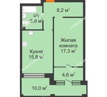 1 комнатная квартира 54,7 м² - ЖК Симфония Нижнего
