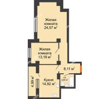 2 комнатная квартира 70,31 м², ЖК Штахановского - планировка