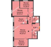 4 комнатная квартира 148 м², ЖК Богатяновский - планировка
