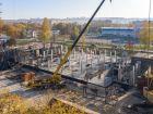 Ход строительства дома № 1 первый пусковой комплекс в ЖК Маяковский Парк - фото 78, Октябрь 2020