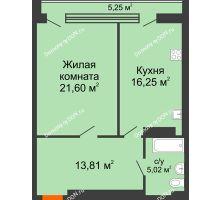 1 комнатная квартира 61,92 м², ЖК Царское село - планировка