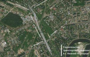 Двухуровневая транспортная развязка на улице Циолковского в Нижнем Новгороде