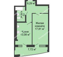 1 комнатная квартира 52,82 м² в ЖК Тихий Дон, дом № 2 - планировка