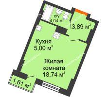 Студия 26,91 м² в ЖК Мечников, дом ул. Мечникова, 37 - планировка