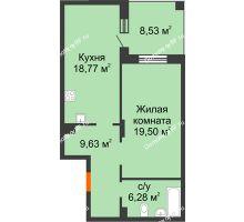 1 комнатная квартира 58,45 м², ЖК Atlantis (Атлантис) - планировка