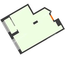 1 комнатная квартира 43 м² в ЖК АТЛАНТ СИТИ, дом №1 - планировка