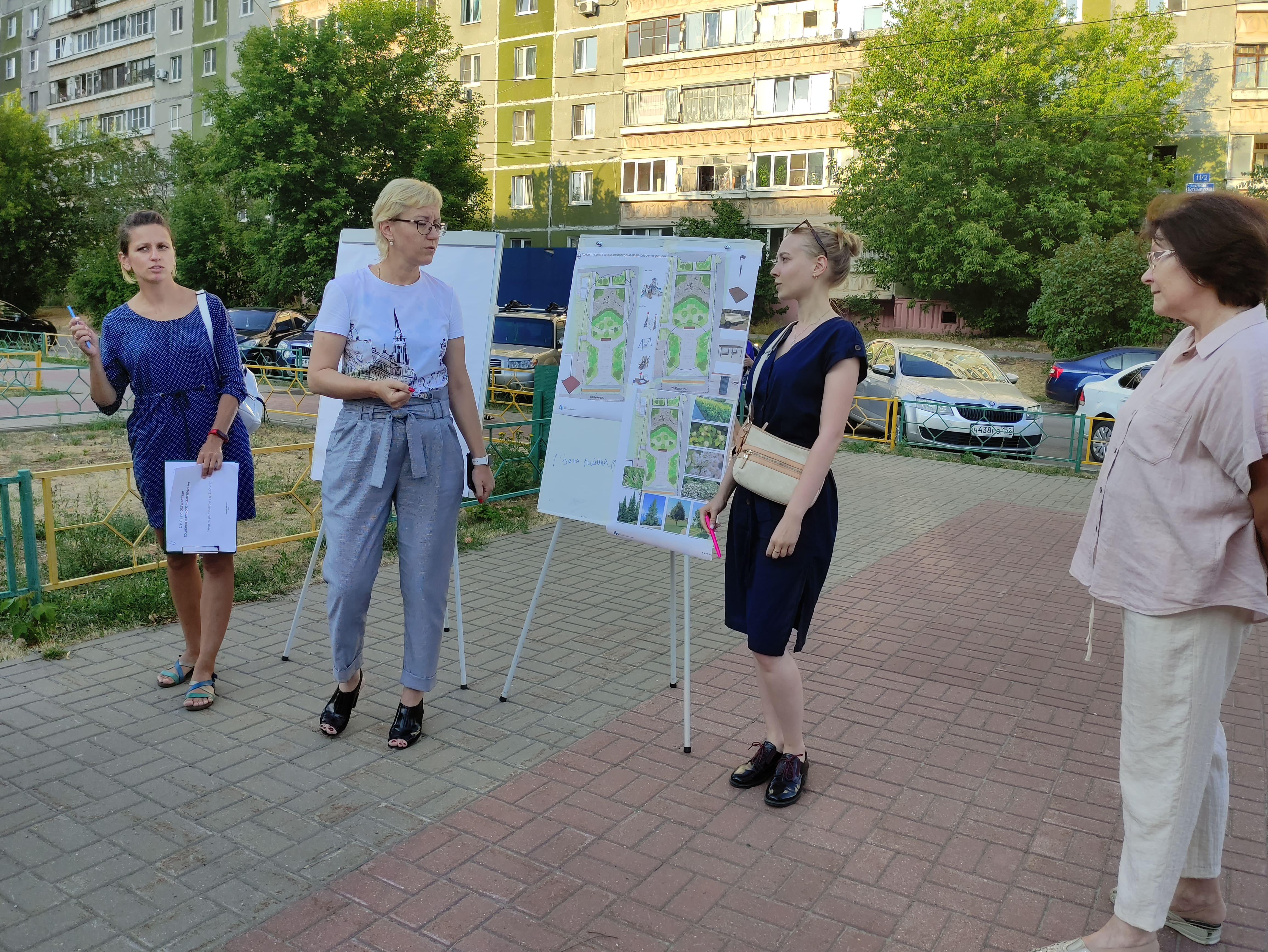 Детская площадка и зона отдыха появится в сквере на улице Культуры в Нижнем Новгороде
