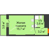 Студия 26,5 м², ЖК Космолет - планировка