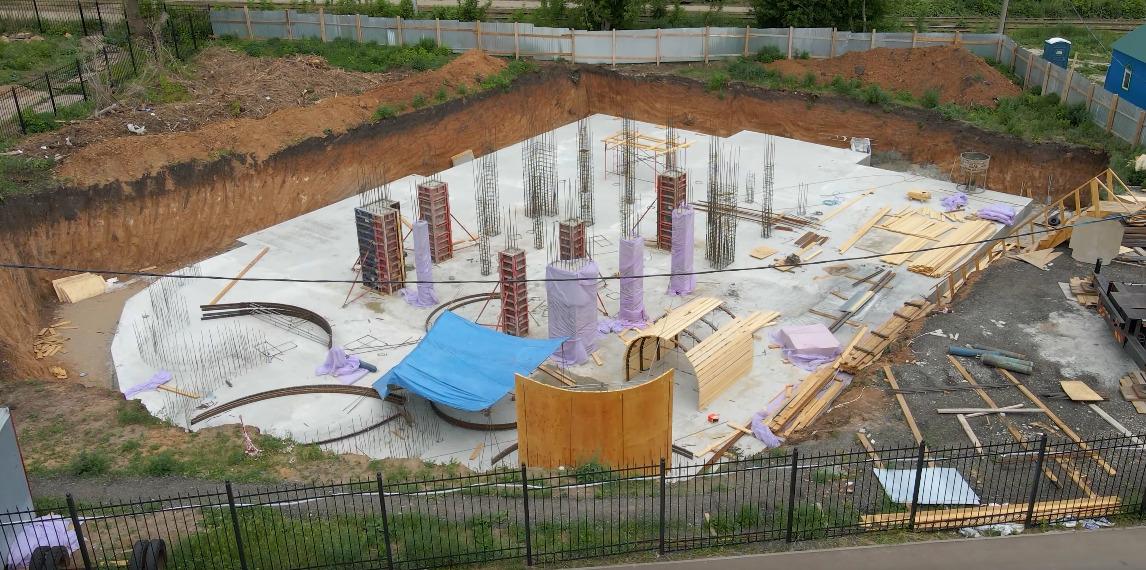 В Самаре залили фундамент будущего детского епархиального центра за Ботаническим садом