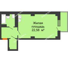 Студия 40,71 м² в ЖК Сокол Градъ, дом Литер 6 - планировка