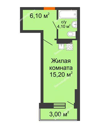 Студия 28,4 м² в ЖК На Тимошенко, дом № 1