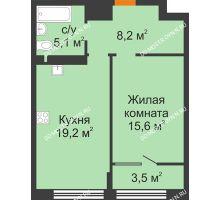 1 комнатная квартира 51,6 м² - ЖК Симфония Нижнего